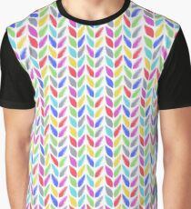 Knitted, tress or wheat ears seamless colorful pattern.  Graphic T-Shirt