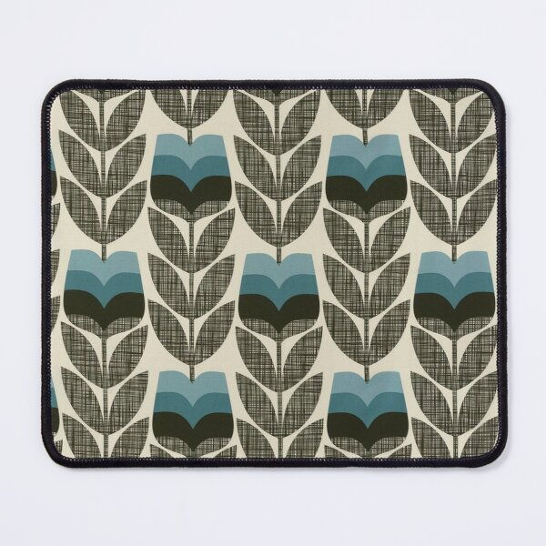 orla kiely flowers abstract  Mouse Pad