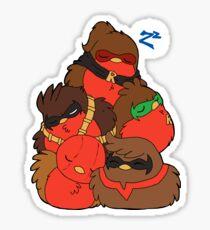 Go!Robins! - A pile of Robins Sticker