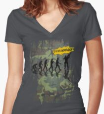 get to the choppaaa , camo Women's Fitted V-Neck T-Shirt