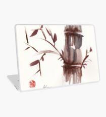'Listen'  original ink wash sumi-e bamboo painting Laptop Skin