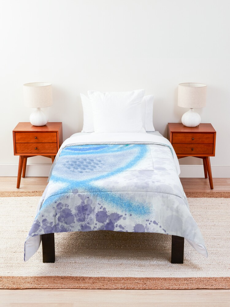 Alternate view of M.I. #2  ☽  Aquatic Splatter Splash Comforter