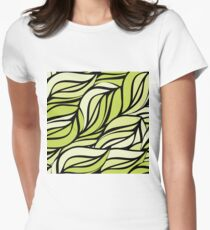 Green thread Womens Fitted T-Shirt