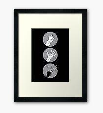 Rock, Paper, Scissor....hands Framed Print