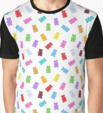 Seamless colorful gummy bears candies background. Graphic T-Shirt