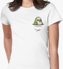 Too Many Birds! - Quaker Parrot/Monk Parakeet Womens Fitted T-Shirt