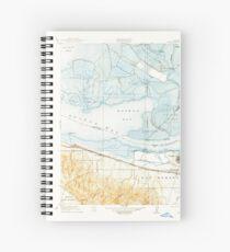 USGS TOPO Map California CA Honker Bay 296169 1918 31680 geo Spiral Notebook
