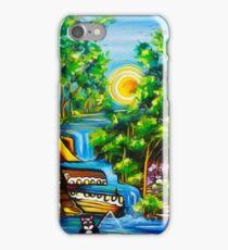 fishing kittens / cat fantasy by JOSE JUAREZ !! iPhone Case/Skin