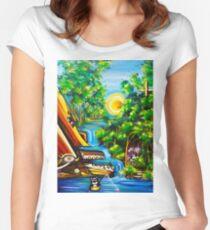 fishing kittens / cat fantasy by JOSE JUAREZ !! Women's Fitted Scoop T-Shirt