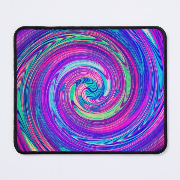 Psychedelic Spiral - Abstract Psychedelic Spiral Design Mouse Pad