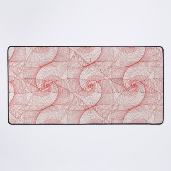 Red Spirograph | Pattern Desk Mat