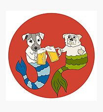 Beer Buddy Mermutts Photographic Print