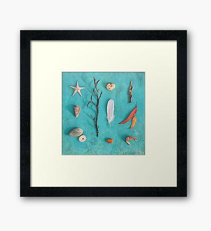 Sea, Land & Sky Framed Print
