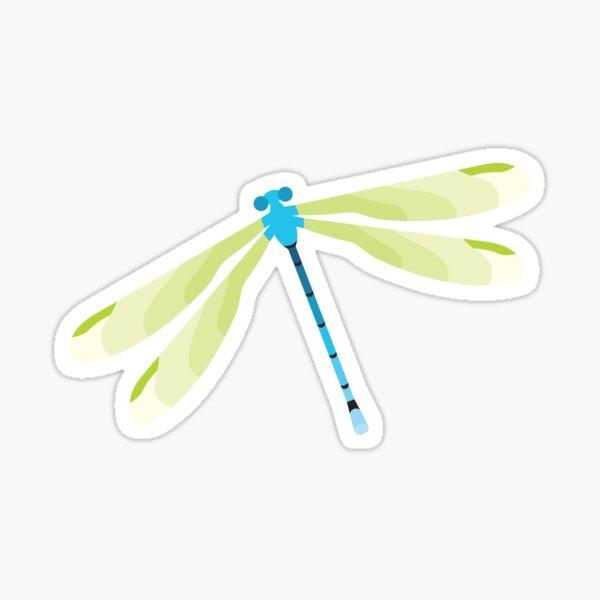 Little blue damselfly with white background Sticker