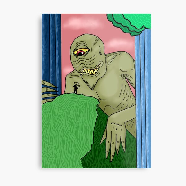 Curious Forest Creature Metal Print