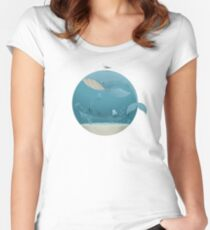 Whale & Jellyfish Women's Fitted Scoop T-Shirt