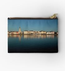 View of Macon across the river Saone in France Studio Pouch