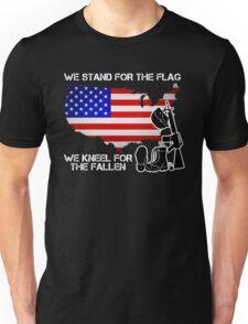 Gift For Veteran - We Stand For The Flag We Kneel For The Fallen Shirt Unisex T-Shirt