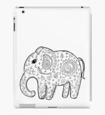 Cute elephant zentangle black and white iPad Case/Skin