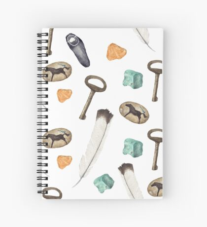 Stones and Feathers Spiral Notebook