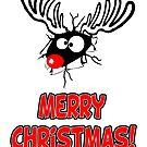 Merry Xmas - Reindeer Cartoon by garigots