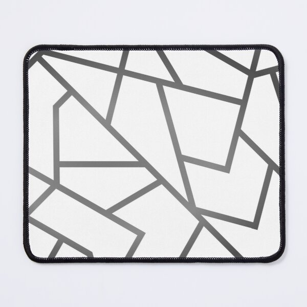 White and Moonstone Mouse Pad