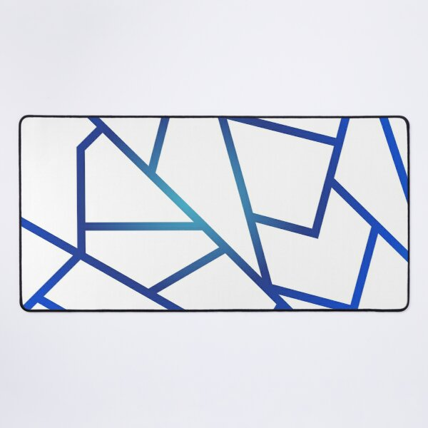 White and Sapphire Desk Mat