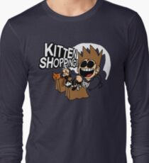 EDDSWORLD KITTEN SHOPPING Long Sleeve T-Shirt
