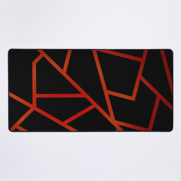 Black and Ruby Desk Mat