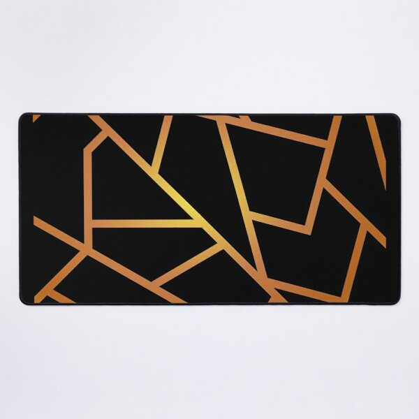 Black and Gold Desk Mat