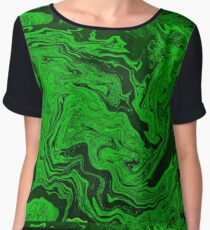 Green Fluid Women's Chiffon Top