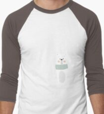 Let It Snow Bear Pink Men's Baseball ¾ T-Shirt