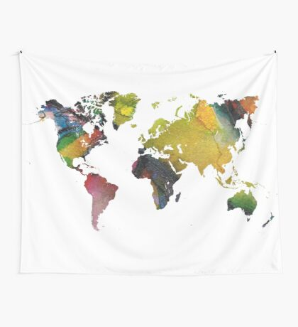 New world map Wall Tapestry
