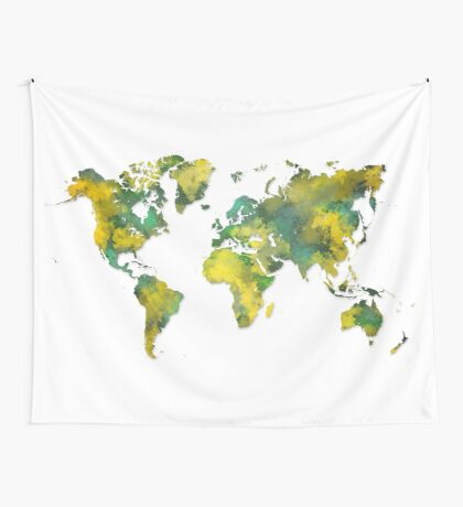 World map 2038 Wall Tapestry