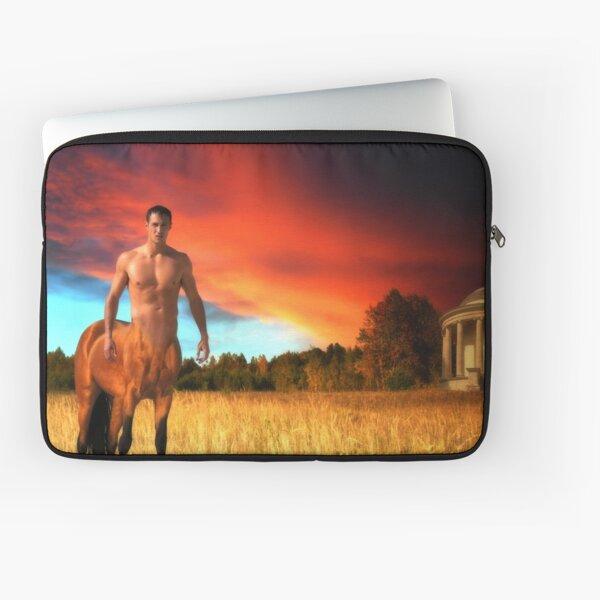 Twilight on Arcadia - The Golden Centaur Laptop Sleeve