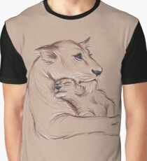 """Guardian"" - Lioness and Cub prisma pencil drawing Graphic T-Shirt"
