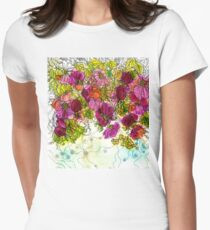 Dog-Rose. Autumn. Fitted T-Shirt