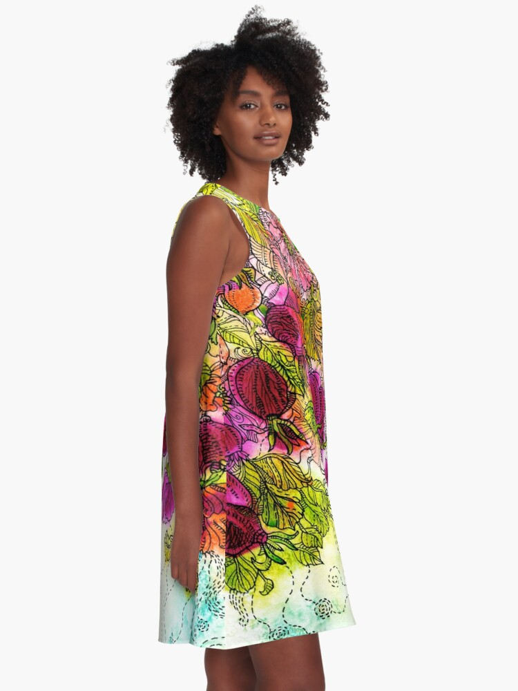 Alternate view of Dog-Rose. Autumn. A-Line Dress