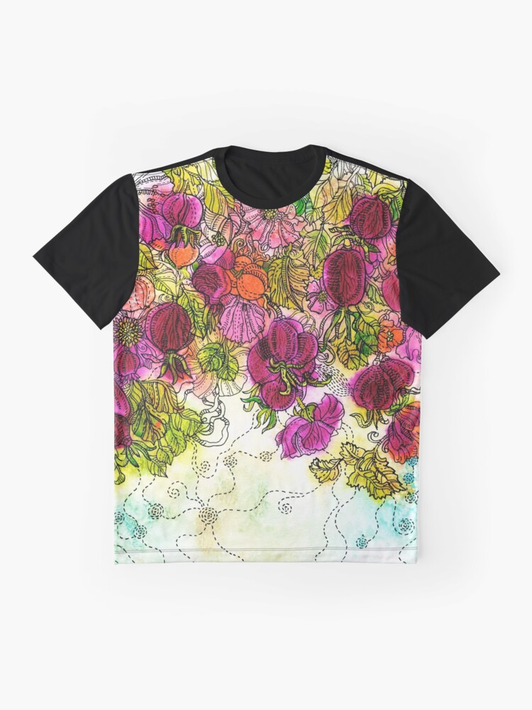 Alternate view of Dog-Rose. Autumn. Graphic T-Shirt