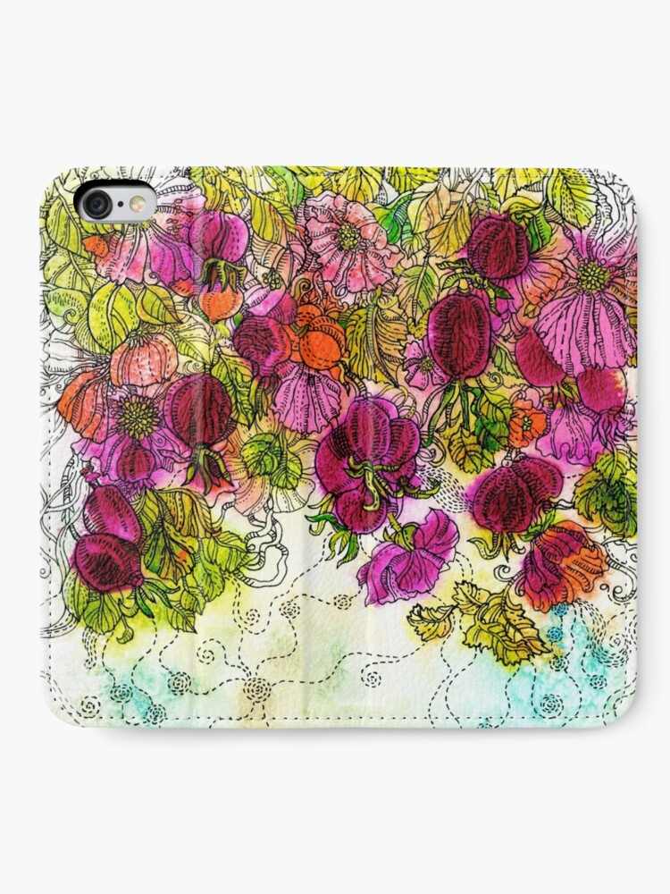 Alternate view of Dog-Rose. Autumn. iPhone Wallet