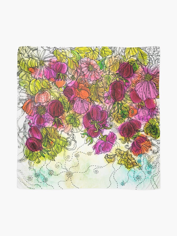 Alternate view of Dog-Rose. Autumn. Scarf
