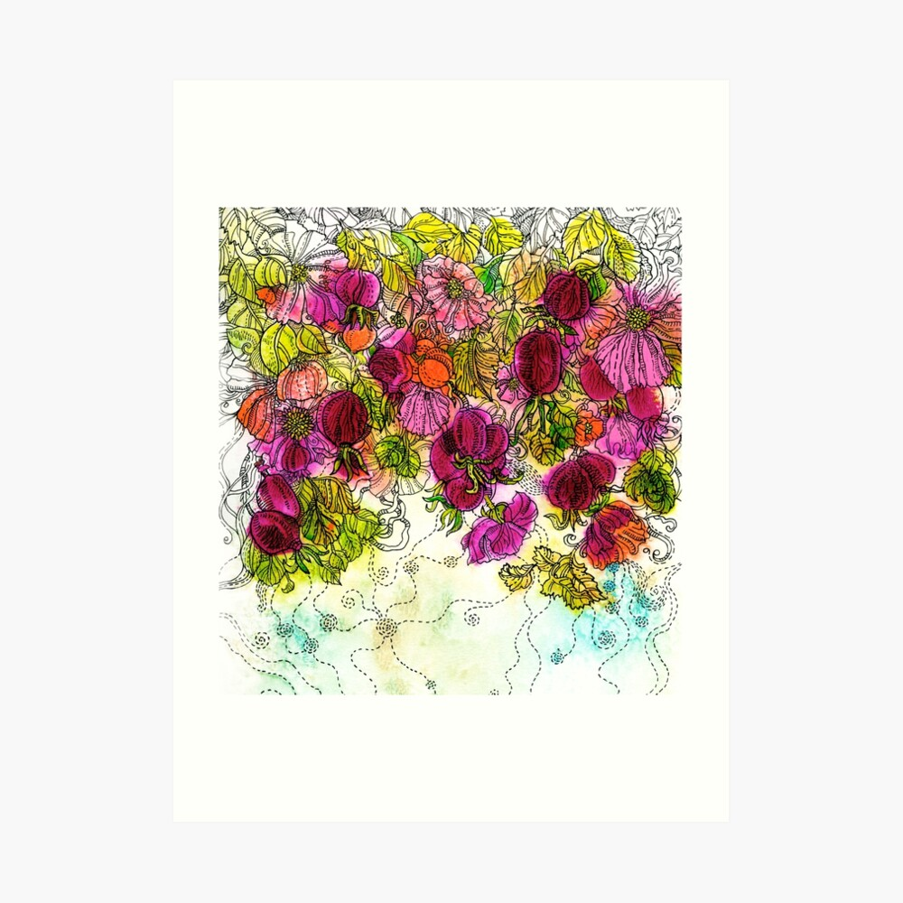 Dog-Rose. Autumn. Art Print