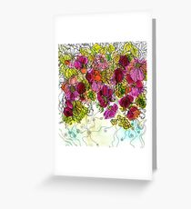 Dog-Rose. Autumn. Greeting Card