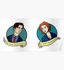 X-Files, Mulder + Scully Poster