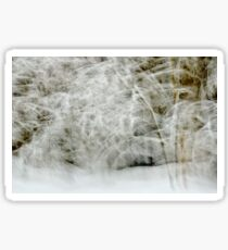 Snowstorm in Valserine forest Sticker