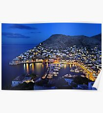 Nights in Hydra island - Greece Poster