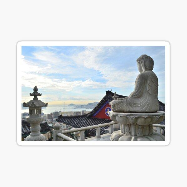 Buddha by the Seaside Sticker