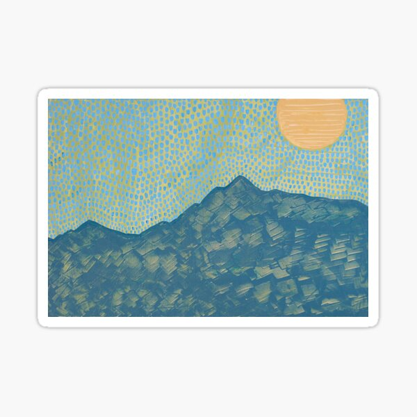 Picuris Mountains original painting Sticker