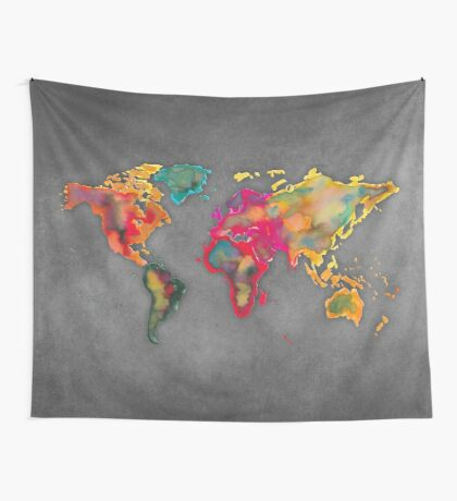 World map 2027 b Wall Tapestry