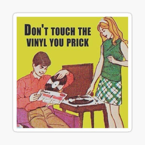 Ne touchez pas le vinyle Sticker